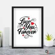Quadro Decorativo Série Love Collection Love You Forever