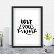 Quadro Decorativo Série Love Collection Love You Foreverr