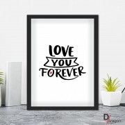 Quadro Decorativo Série Love Collection Love You Foreverr
