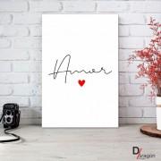 Quadro Decorativo Série Love Collection Minimalista Amor