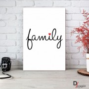 Quadro Decorativo Série Love Collection Minimalista Family