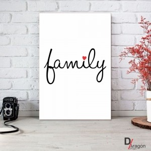 Quadro Decorativo Série Love Collection Minimalista Family