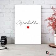 Quadro Decorativo Série Love Collection Minimalista Gratidão