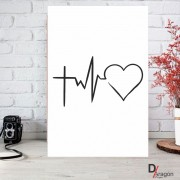 Quadro Decorativo Série Love Collection Paz Amor Esperança