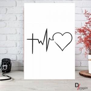 Quadro Decorativo Série Love Collection Paz Amor Esperança