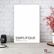 Quadro Decorativo Série Love Collection Simplifique