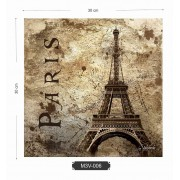 Quadro MDF 3mm Eiffel Paris