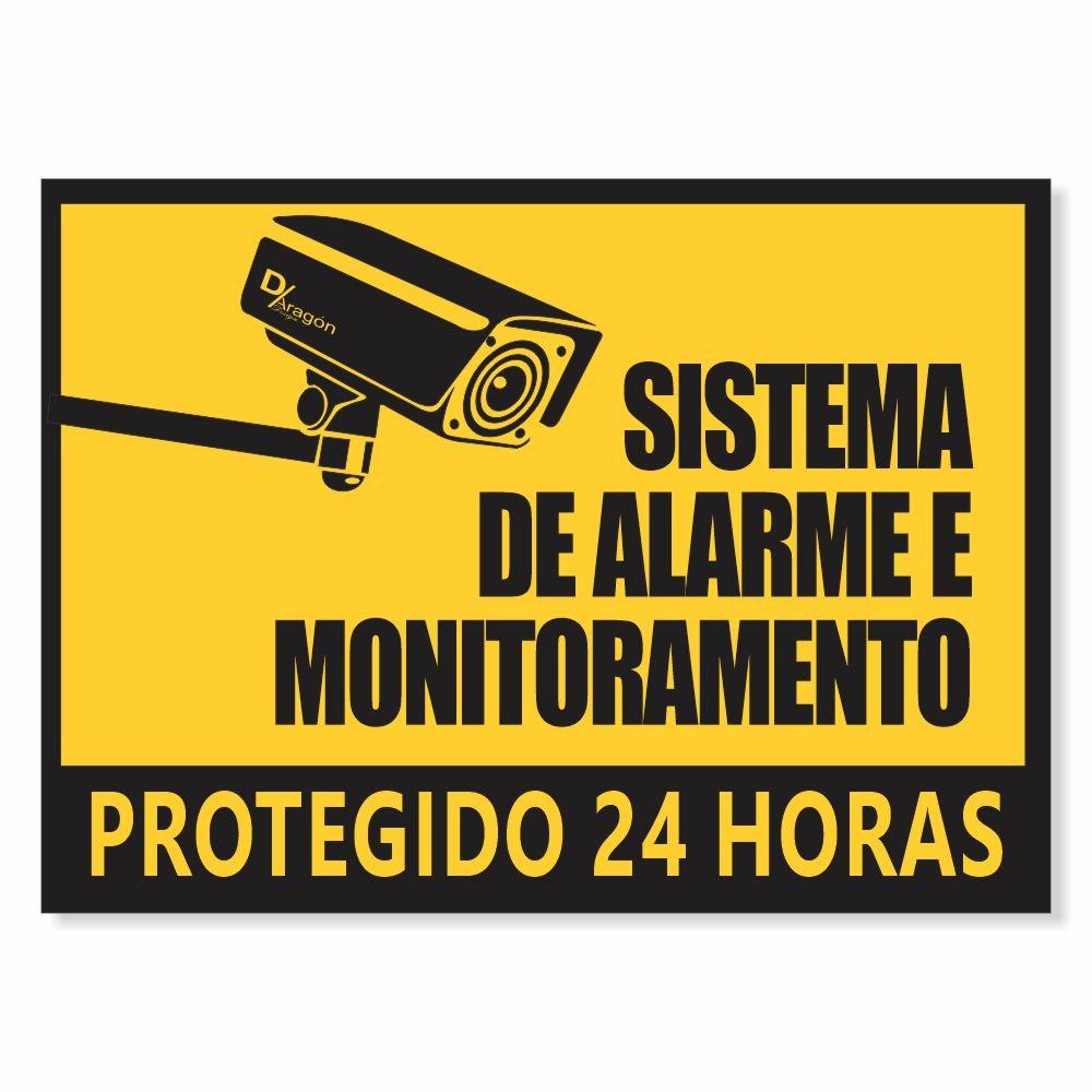 Placas Sistema de Alarme Pct c/5 un PS1mm 20x27cm