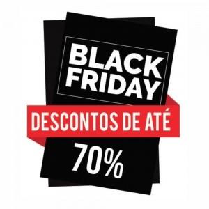 Adesivo Black Friday Desconto de 70%