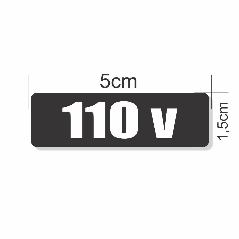Adesivo Autocolante Etiqueta 110 v Cartela 64 Unidades