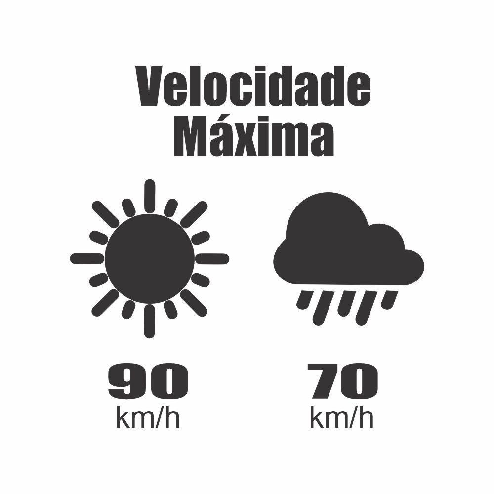 Adesivo de Identificação de Velocidade Máxima Clima