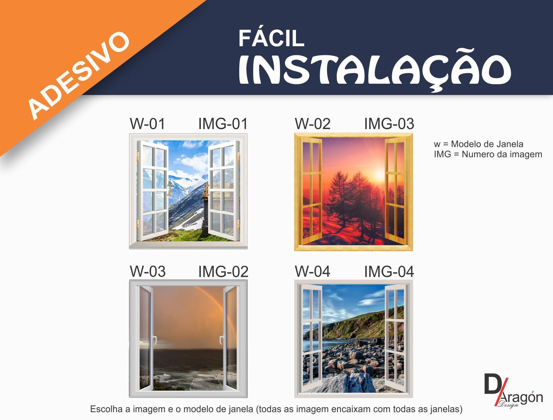 Adesivo de Parede Decorativo Janela 3D A Beira do Rio