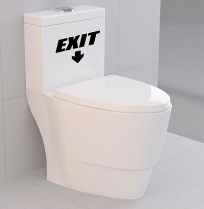 Adesivo Decorativo Vaso Sanitário Exit 15x20cm