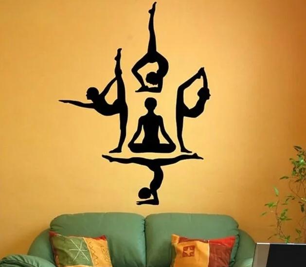 Adesivo Em Vinil Decoração Parede Ambiente Yoga Zen