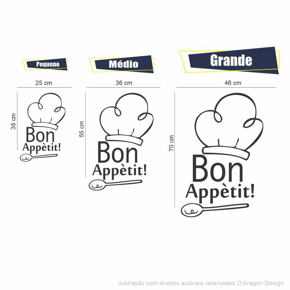 Adesivo Geladeira Bon Appétit
