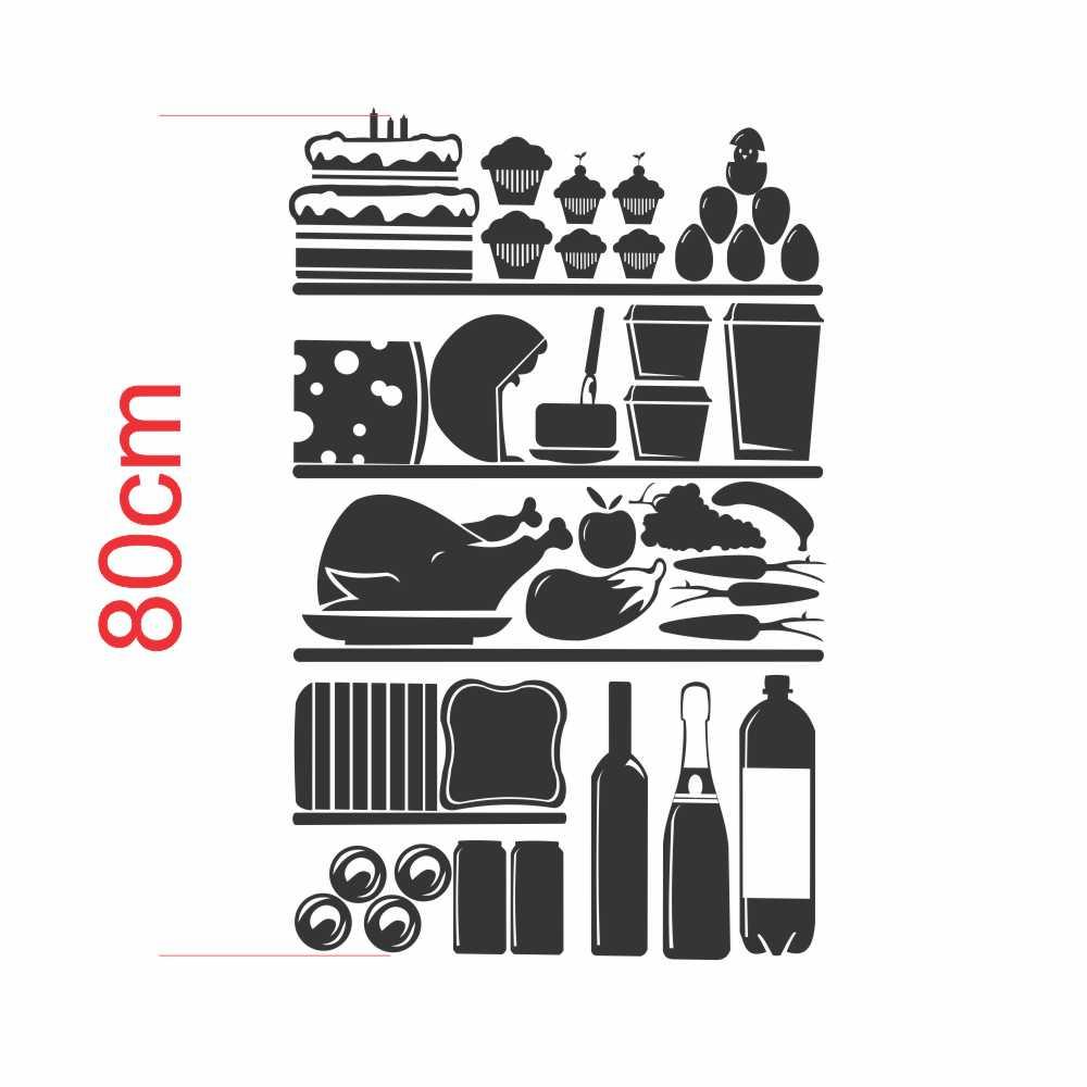 Adesivo Geladeira Silhueta Alimentos do Interior