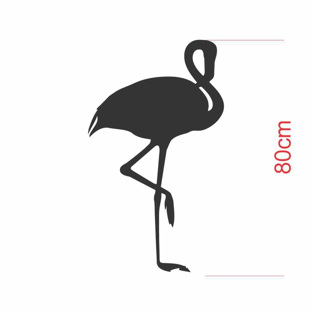 Adesivo Geladeira Silhueta Flamingo