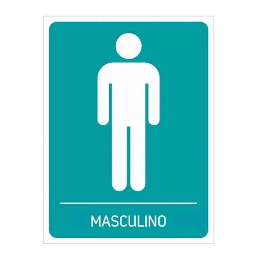 Adesivo Identificação Banheiro Masculino