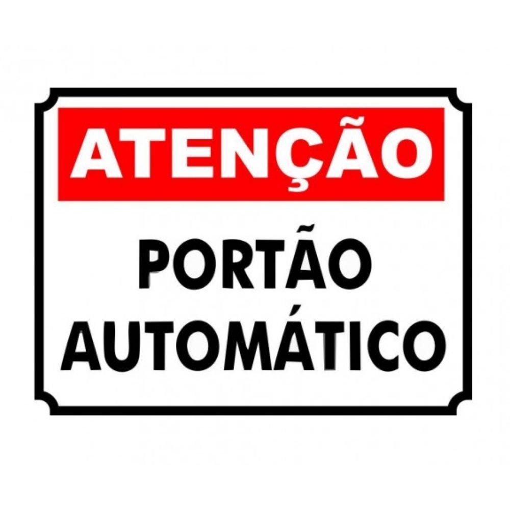 Adesivo Identificação Informação Atenção Portão Automático