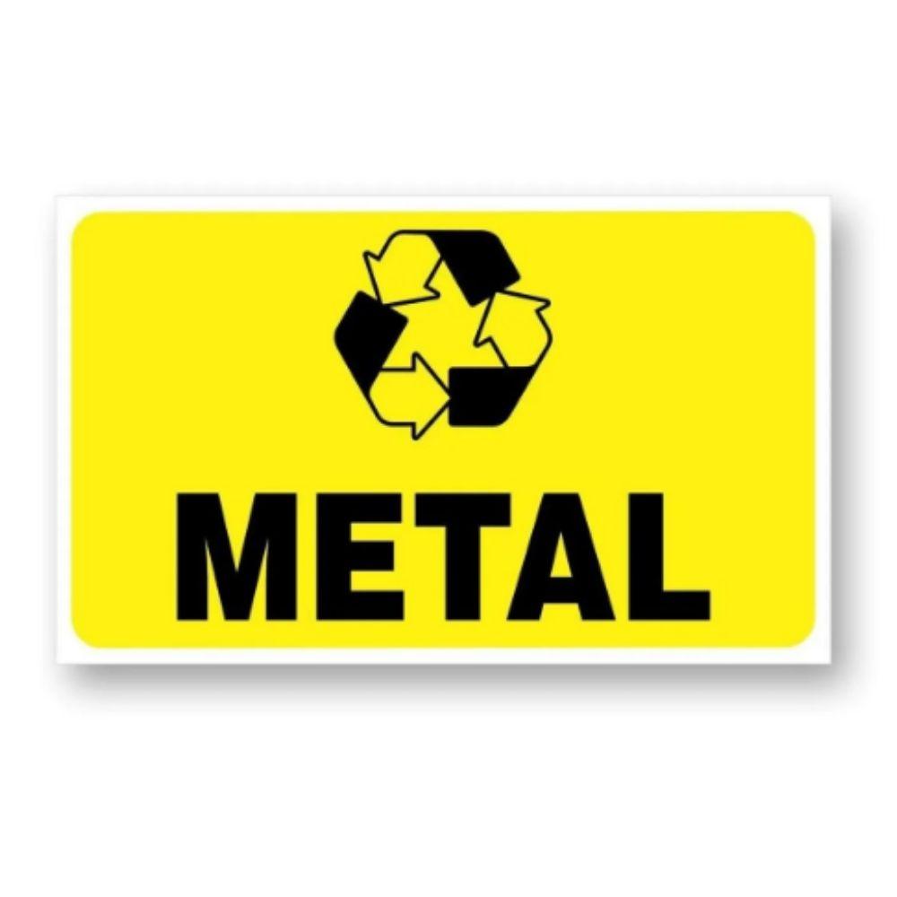 Adesivo Identificação Informação Lixo Reciclável Metal