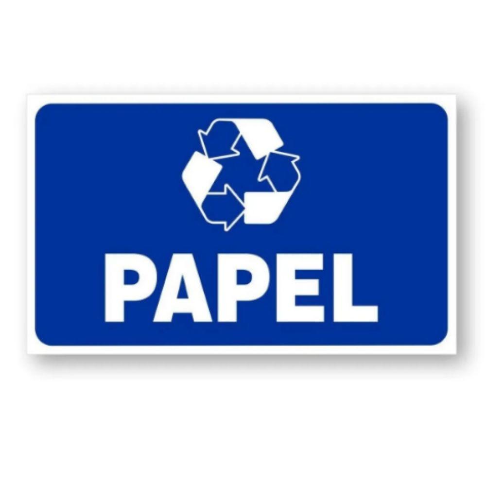 Adesivo Identificação Informação Lixo Reciclável Papel