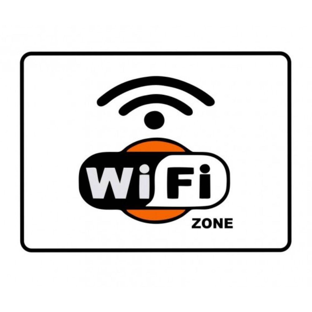 Adesivo Identificação Informação WiFi Zone