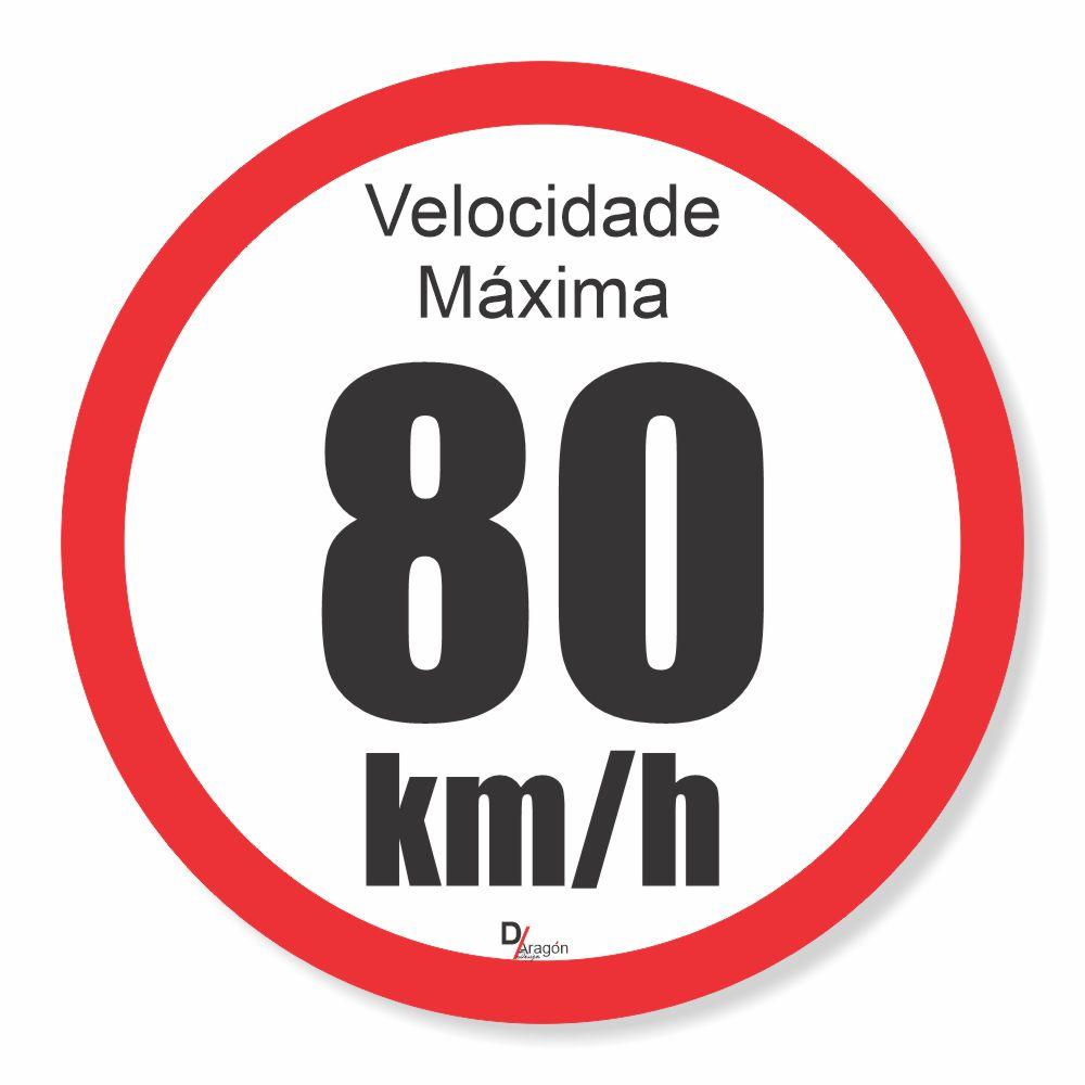 Adesivo Para Frota Velocidade Máxima 80km
