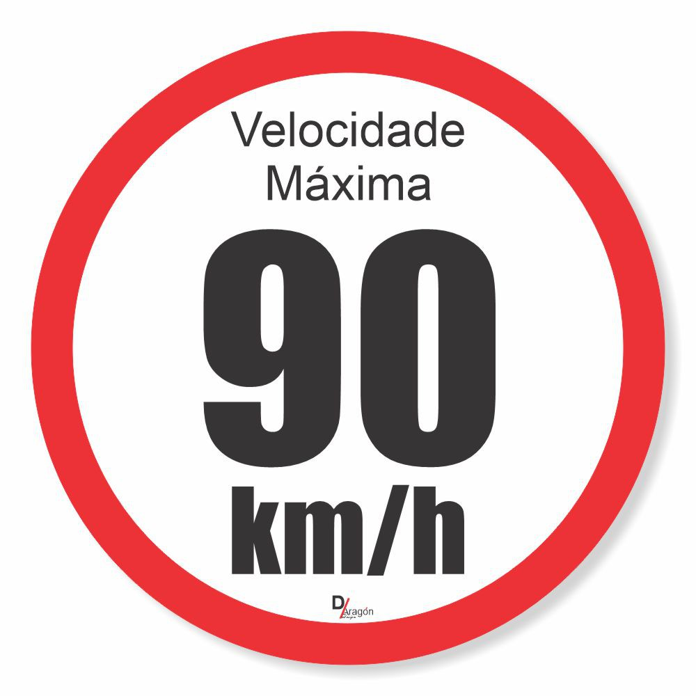Adesivo Para Frota Velocidade Máxima 90km