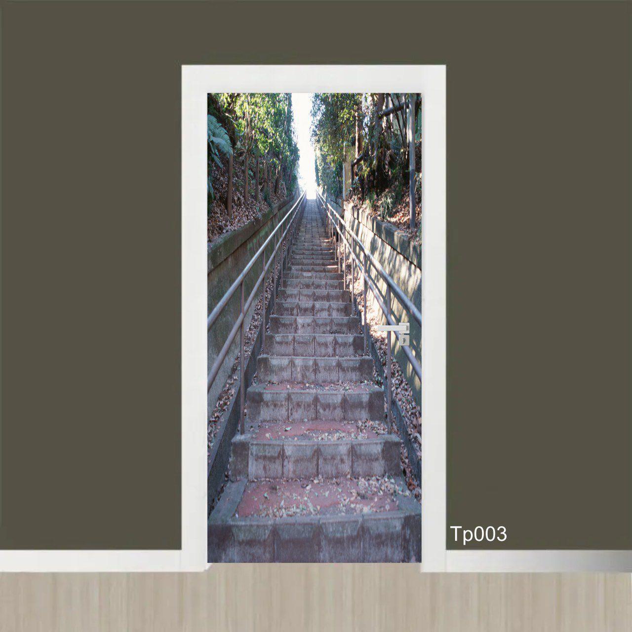 Adesivo Porta Escada na Floresta
