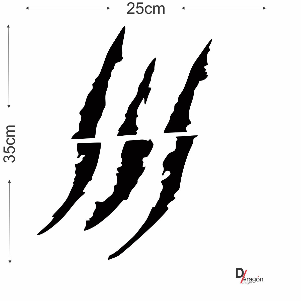 Adesivo Recorte Garra Preto 35cm para Veículos