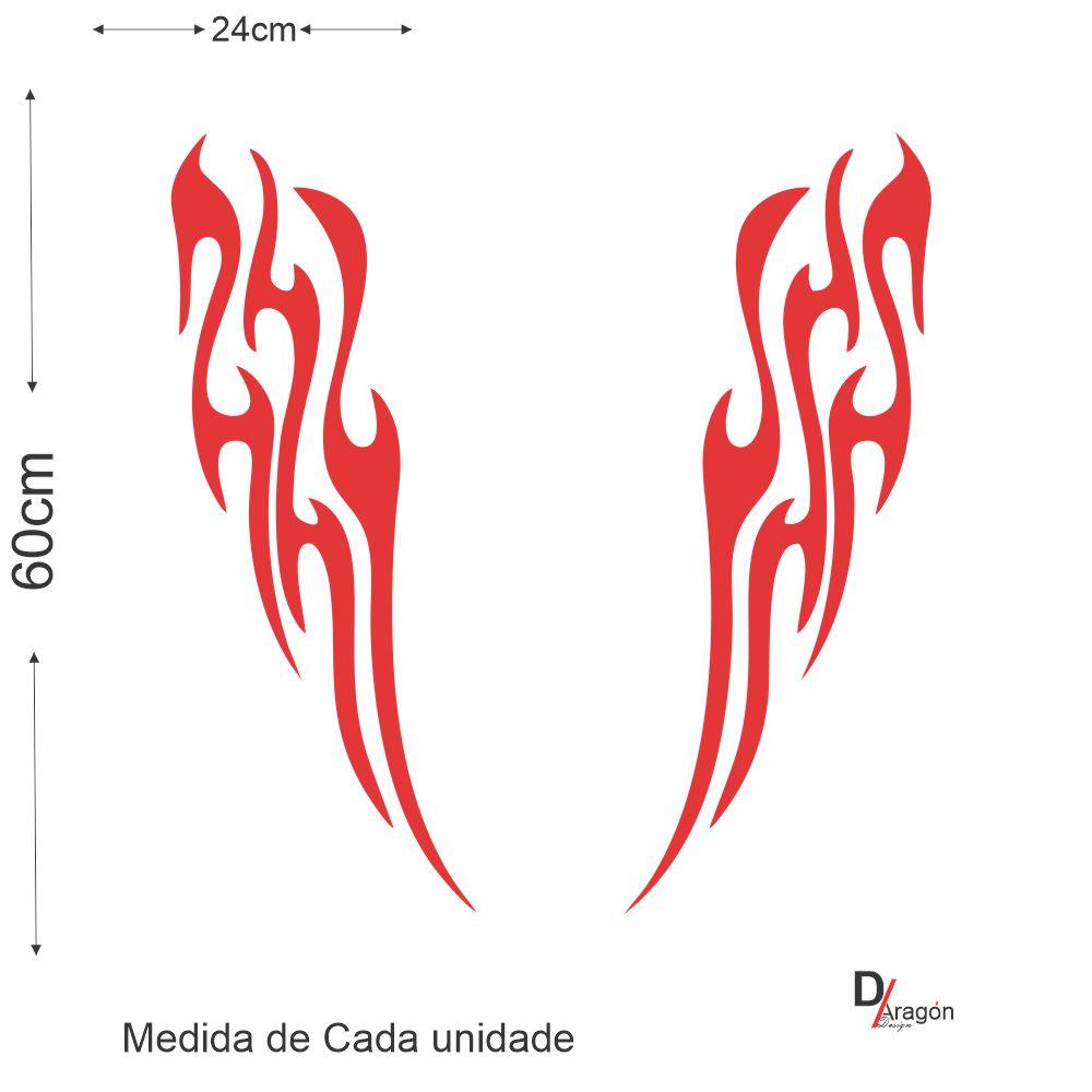 Adesivo Recorte Vermelho Tuning Capo Veículo