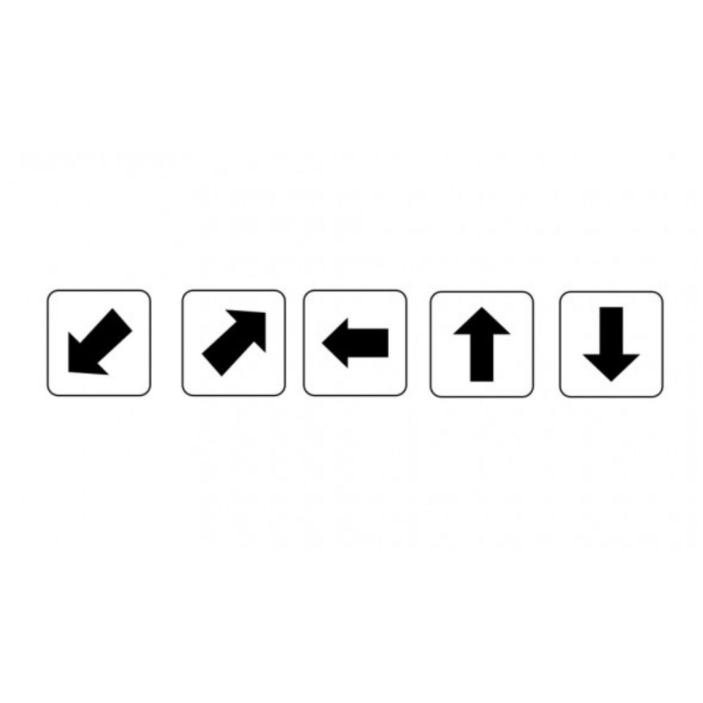 Adesivo Seta Indicação Direção Prédio Condomínio 10 unidades