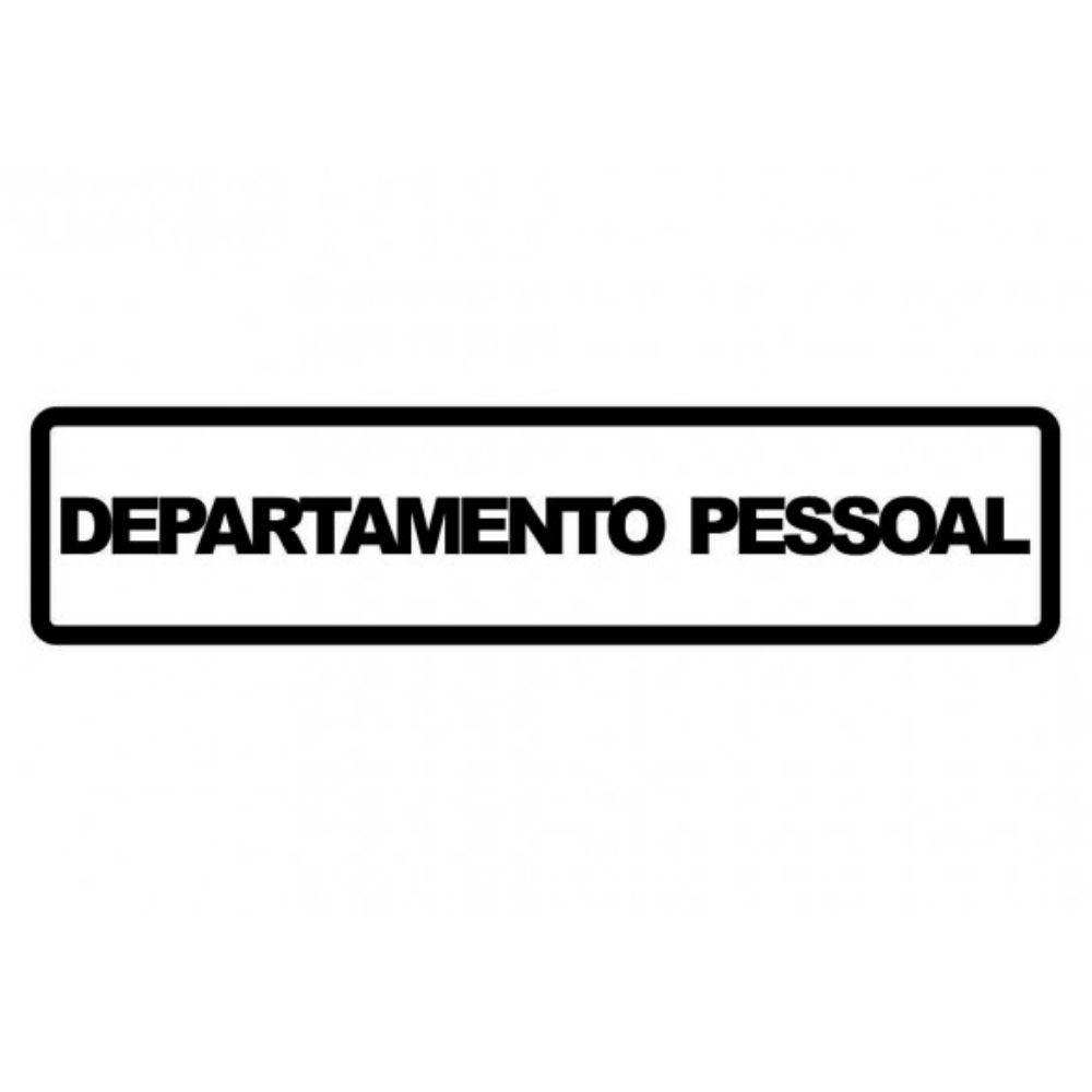 Adesivo Sinalização Identificação Departamento Pessoal