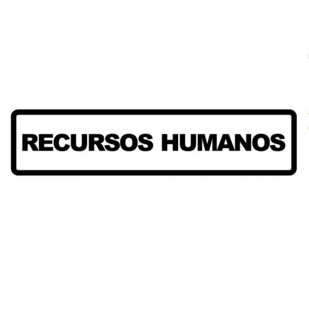 Adesivo Sinalização Identificação Empresa Recursos Humanos