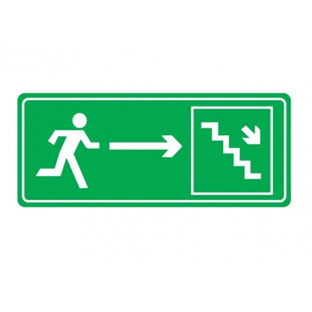 Adesivo Sinalização Identificação Saída Escada a Direita