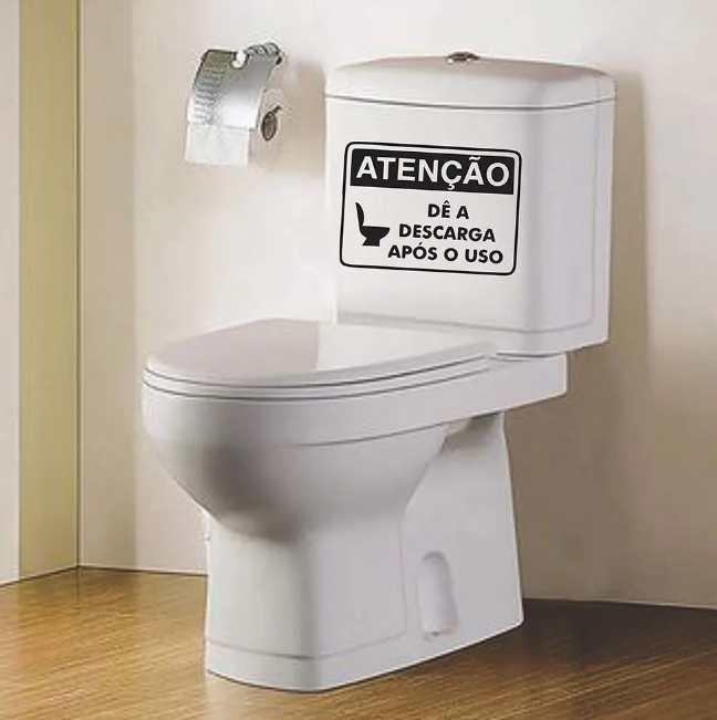 Adesivo Vaso Sanitário Atenção de a Descarga Após o Uso
