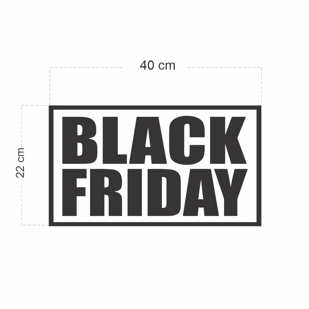 Adesivo Vitrine Black Friday 40 x 22cm
