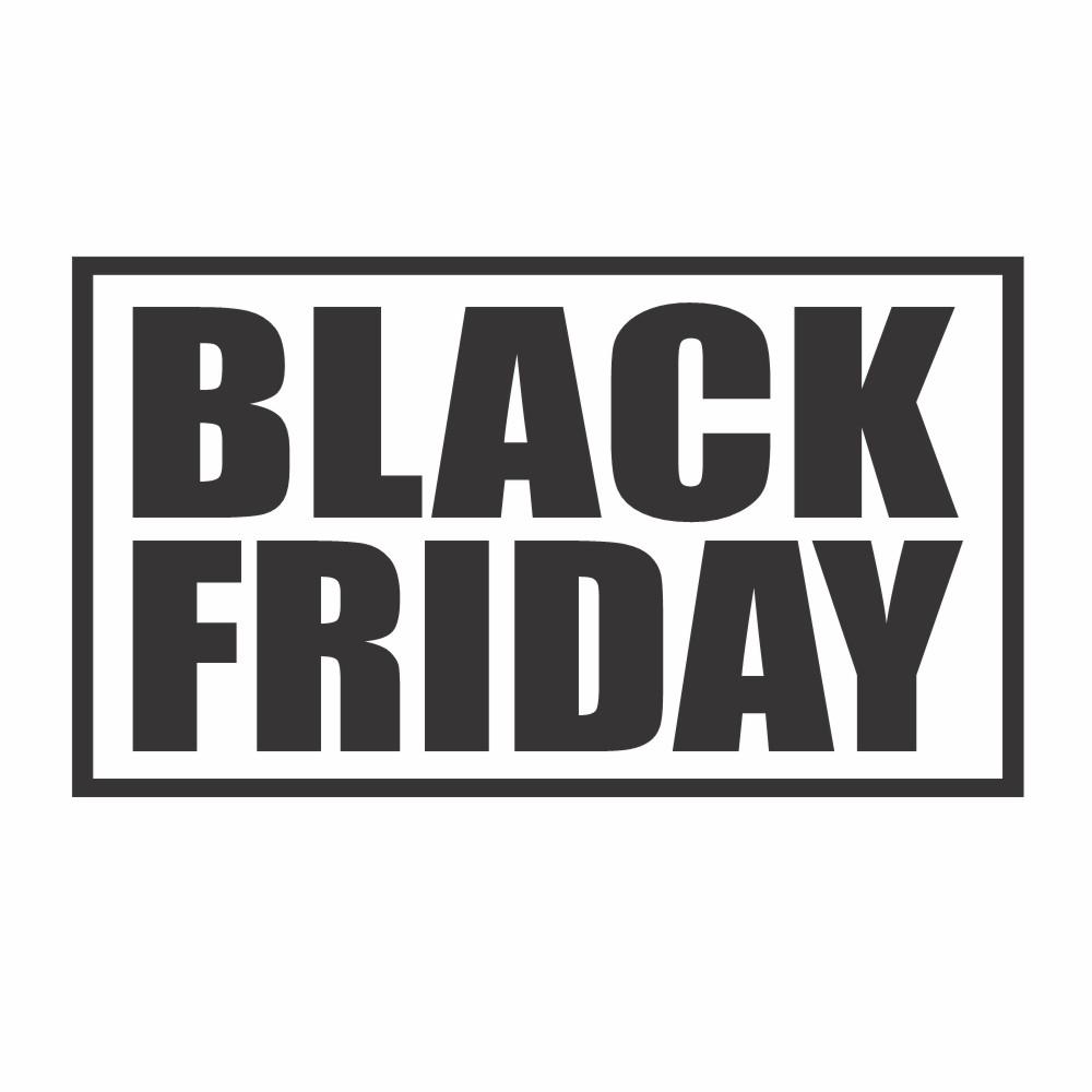 Adesivo Vitrine Black Friday 88x50cm