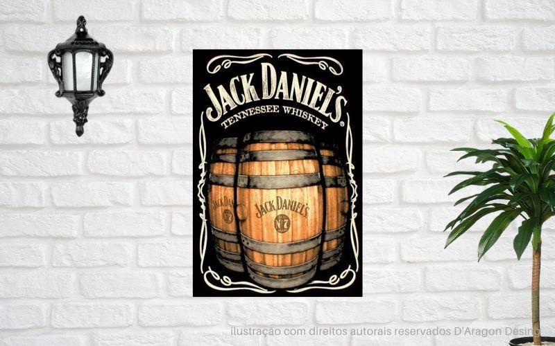 Placa Decorativa Bar Café Jack Daniels