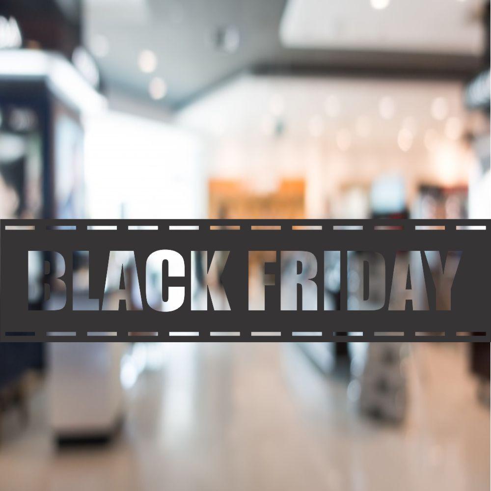 Faixa Adesivo Vitrine Black Friday 25x100cm