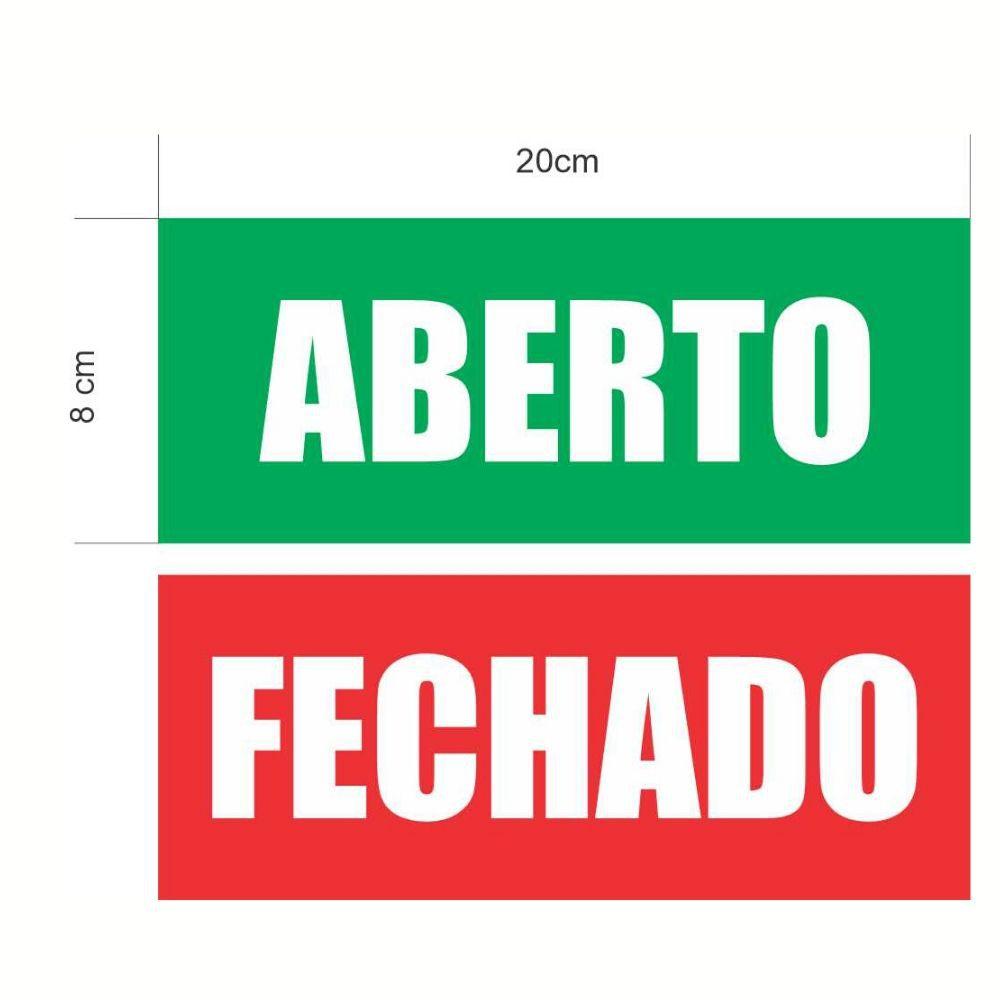 Kit 2 Adesivo Aberto Fechado Vermelho Verde
