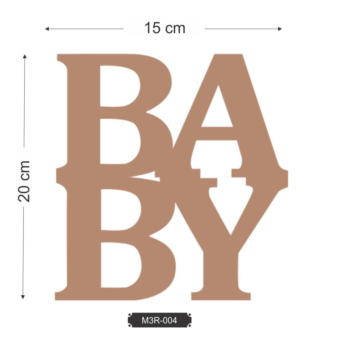Kit 5 Palavras Baby em Aplique de MDF