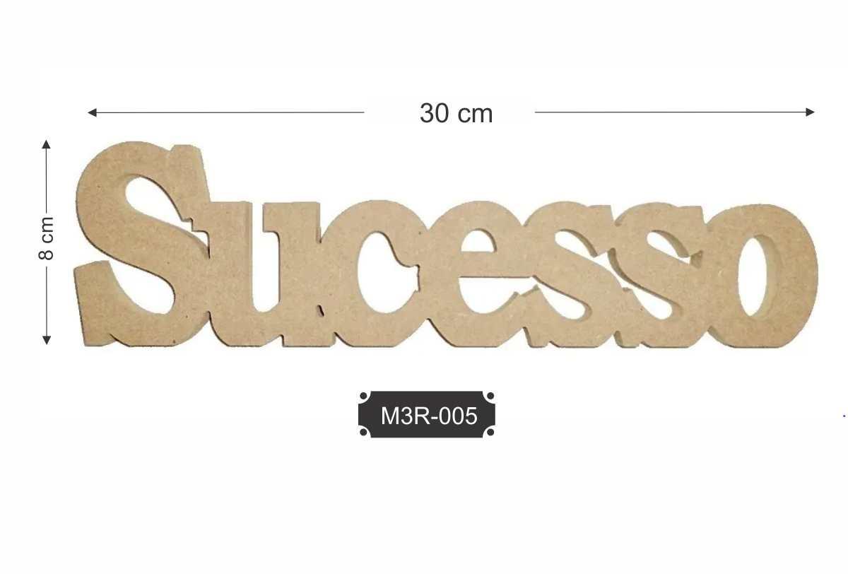 Kit 5 Palavras Sucesso em Aplique de MDF