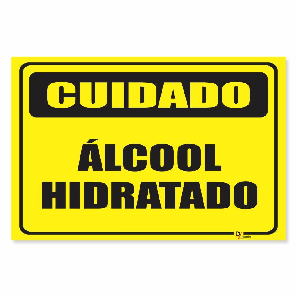 Placa de Sinalização Álcool Hidratado