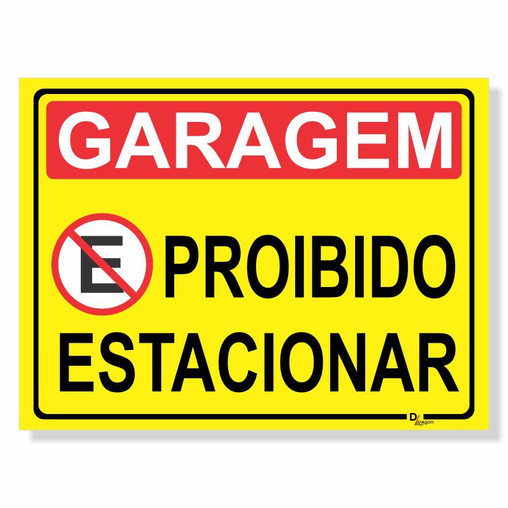 Placa de Sinalização Atenção não Estacione 2