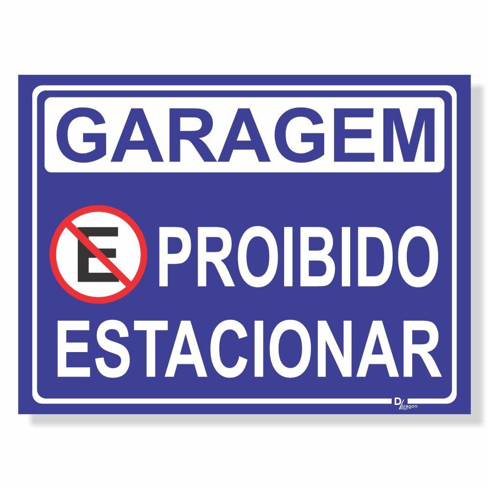 Placa de Sinalização Atenção não Estacione 3