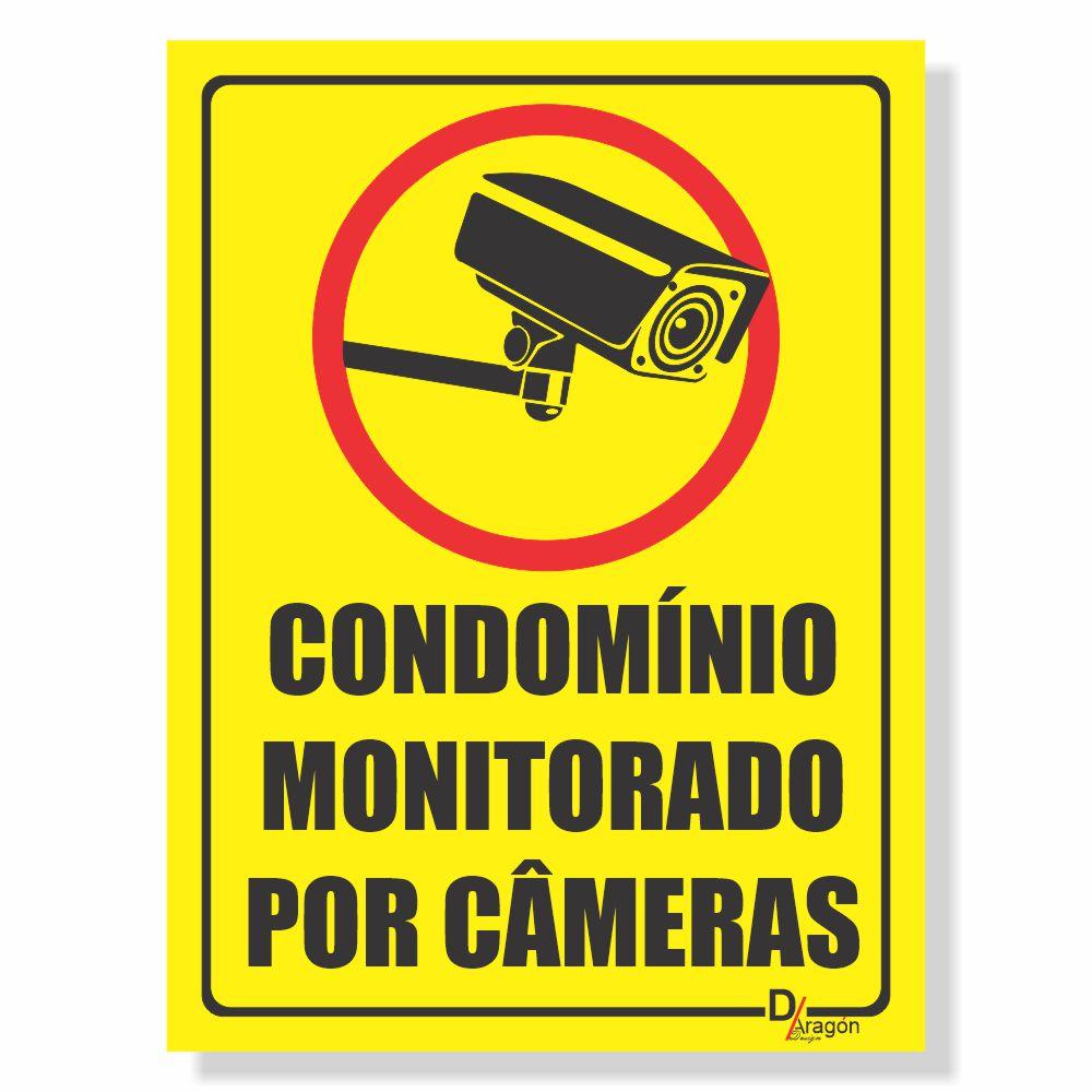 Placa de Sinalização Condomínio Monitorado 2