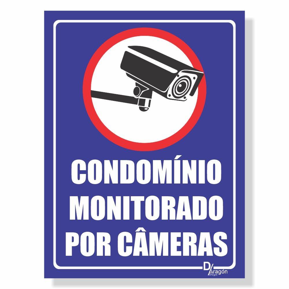 Placa de Sinalização Condomínio Monitorado 3