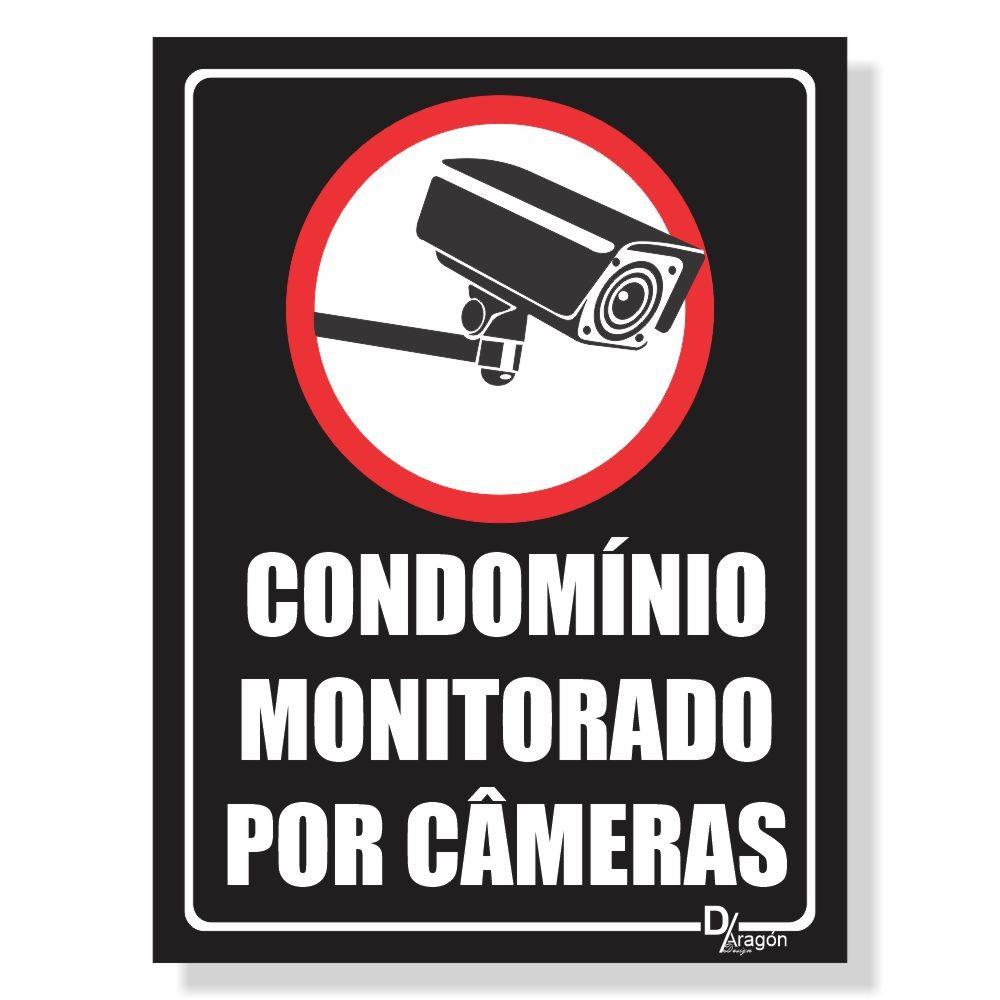 Placa de Sinalização Condomínio Monitorado 4