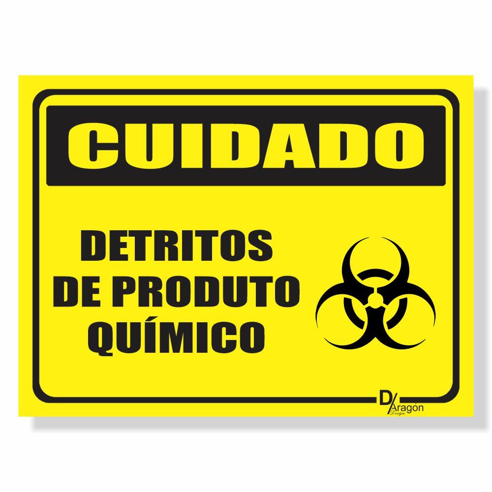 Placa de Sinalização Cuidado Produtos